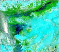 Satellite image of the Brahmaputra