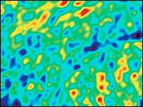 Temperature fluctuations in the microwave background (Nasa)