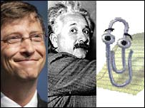 Gates, Einstein, Clippy