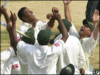 Bangladesh celebrating