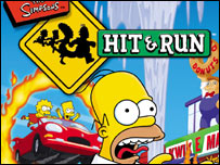 Box shot of Simpsons: Hit and Run, Vivendi