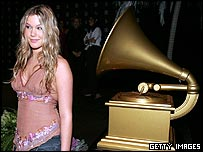 Joss Stone at Grammy nominations in the US