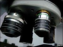 Lenses on a microscope