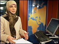 Muslim newsreader