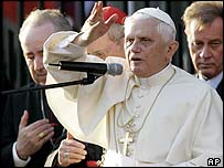 Pope Benedict XVI gives blessing