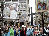 Pilgrims in Cologne
