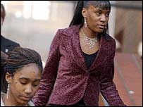 Cheryl Shaw (left) and Sophia Ellis (right) at Leicester Crown Court