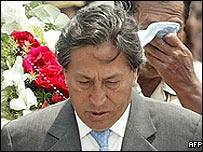 Peruvian President Alejandro Toledo