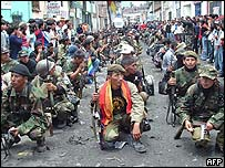 Rebels prepare to surrender after a siege in Peru