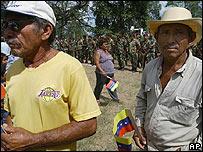 Campesinos venezolanos en la finca El Charcote.