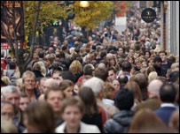 Crowds on London's Oxford Street