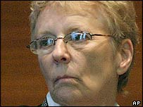 Widow Carol Ernst in court during Vioxx case