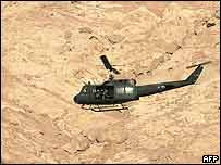 Helicopter in Aqaba, Jordan