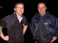 BBC Wales News website's Tom Bourton and military fitness organiser Huw Lewis