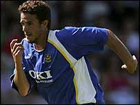 Portsmouth midfielder Laurent Robert