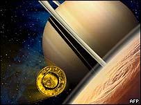 Huygens in space, AFP