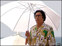Libya's Col Muammar Gaddafi