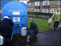 Villagers using emergency water that has been drafted into Hexham
