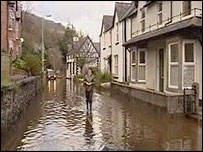 Flooding in the Conwy Valley