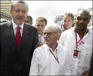 Turkish Prime Minister Recep Tayyip Erdogan, Bernie Ecclestone and Mike Tyson