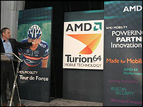 Lance Armstrong unveils AMD's Turion 64