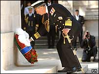 Prince Charles at the Cenotaph