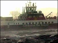 CalMac ferry in port