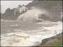 The Down coast was lashed by the storm