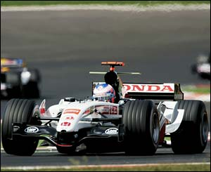BAR's Jenson Button in action