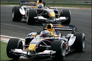 Christian Klien and Red Bull team-mate David Coulthard