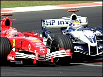 Shumacher and Webber collided on lap 14 in Istanbul