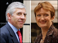 Jack Straw and Tessa Jowell