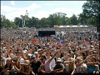 V Festival crowd at Hylands Park, Chelmsford