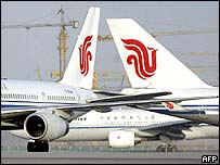 Air China jets at Beijing airport