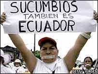 Protester in Ecuador