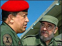 Hugo Chávez y Fidel Castro en 2005