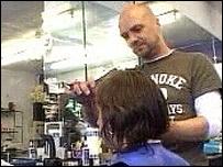 Hairdresser in Manchester gay village