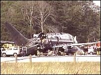 Manchester air disaster scene 1985