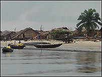 Fishing boats in Africa