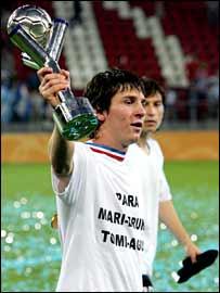 Argentine teenage sensation Lionel Messi