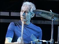 Charlie Watts in Boston on 21 August