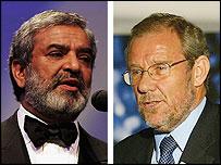 Ehsan Mani and Richard Caborn