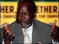 Rebel leader John Garang