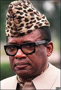 Former President Mobutu of Zaire (Democratic Republic of Congo) (Photo:Gerard Fouet/AFP/Getty Images)