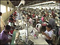 Workers at the Four Seasons factory