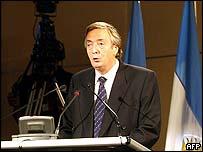 Argentina's President Nestor Kirchner
