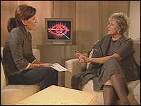 Davina McCall and Germaine Greer