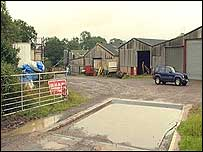 Michael Boffey's farm in Featherbed Lane, Withybrook