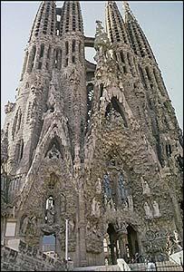 La Sagrada Familia, de Antoni Gaudi, en Barcelona