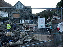The rubble one Boscastle home